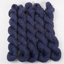 *250g*BRITISH PURE WOOL* 4 ply. Denim Blue.Denim.knitting.100%.tweed.yarn.purple