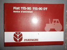 Fiat tracteur 115 -90 + DT : notice d'utilisation