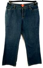 Anne klein blue women's plus size embroidered beaded denim jeans 16