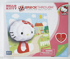 "NEW~3D BREAKTHROUGH ""HELLO KITTY"" WALL ART PUZZLE FROM MEGA PUZZLES 250+ PIECES"