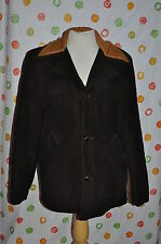 vintage King O Winter brown corduroy Mens 42 Western Coat Fur lined Usa