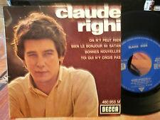 """claude righi""""on n'y peut rien+ 3 ep7""""or.fr.decca:460953 de 1965.beat garage rare"""
