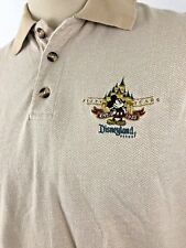 Disneyland Resorts Mens M Polo Shirt Disney 50 Years Mickey Patch Embroidered SS