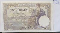 1929 Yugoslavia 100 dinar banknote (39.4.28)