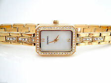 Gold Plated Band Gloss Women's Luxury Wristwatches