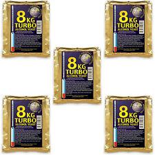 """5 Prestige Turbohefe """"8kg Turbo"""";  bis20% Alkohol; Brennhefe Gärhefe Trockenhefe"""