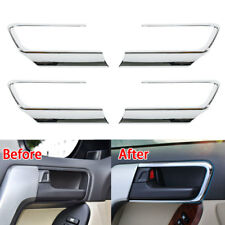 For Toyota Prado 14-2017 Car Inner Door Handle Bowl Cover Trim Frame Chrome ABS
