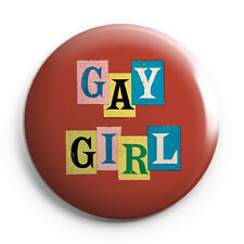 "LGBT - Lesbian - Gay Girl - 25mm (1"" Inch) Pin Button Badge"
