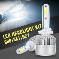 2x 20000LM 200W 880 881 H27 LED Kit conversione lampadina faro 6000K bianco
