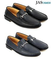Mens Driving Slip On Casual Shoes Smart Loafers Leather Moccasin Size 6-12 JAS