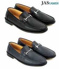 Mens Smart Slip On Shoes Faux Leather Italian Loafers Casual Boat Moccasin Size