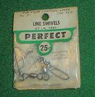 PERFECT LINE SWIVELS, 67 LB TEST, NO 211, U/C MODEL AIRPLANES, GREEN PACKAGE,NIP