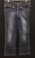 Women's J Lo Collection Medium Wash Crop Jeans With Stretch Size
