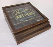 Vintage HUNT QUALITY ART PEN Nib Store Counter Display Case
