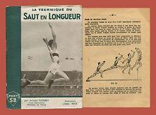 La technique du Saut en Longueur Libraire S. Bornemann Paris Salto in lungo