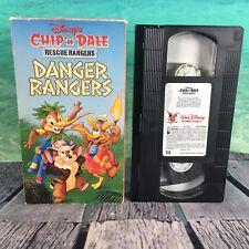 Disney Chip 'N' Dale Rescue Rangers Danger Rangers VHS Cassette Tape Free S/H