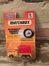 Vintage Matchbox PETERBILT QUARRY DUMP TRUCK 1993 Yellow, White & Red NIP