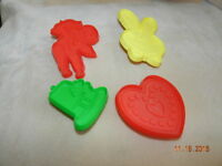 Christmas Cookie Cutter Lot of 4 Hallmark Cards heart cherub bunny st. patricks
