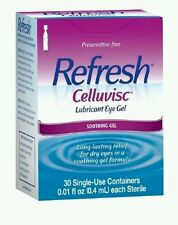 - Refresh Celluvisc Lubricant Eye Gel Single-use Containers 30 Each