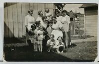 RPPC Man and his Wives? Named Mr & Mrs Ed Wilde c1910 Postcard L3