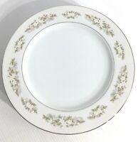 International Silver Co 4 Dinner Plates Springtime White Floral VTG 1960s MCM