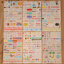 Cute 6 Sheet Paper Stickers for Diary Scrapbook Book Wall Decor Photo