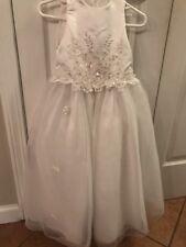 Santa Monica Girls Size 3 White Flower Girl Dress Bridal Wedding