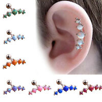 1 PC Stainless Steel Ear Tragus Cartilage Piercing Stud Ear Ring Body Jewellery