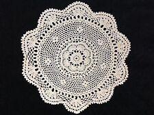 handmade beige 9� 23cm vintage crochet lace doilie doily doiley round