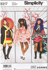 Geisha Girl Kimono Robe Skirt Cincher Costume Sewing Pattern Plus 16 18 20 22 24