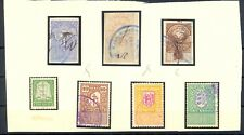 EESTI ESTONIA 7 FISCAL STAMPS --F/VF