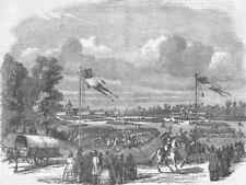FRANCE. Paris-review, Champ de Mars, antique print, 1851