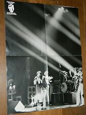 ANCIEN poster LES ROLLING STONES 1973 concert FOREST NATIONAL BRUXELLES sheila