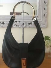 GIANNI VERSACE Black Leather Hobo with Wallet AS NEW