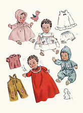 "Betsy Wetsy Tiny Tears by Ideal 14"" Doll Clothing PATTERN 3406 Overalls Snowsuit"