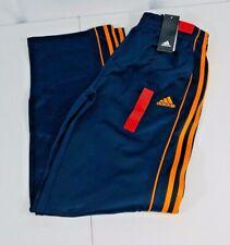 Boys adidas warm-up pant w/pockets size xl (18) color navy blue/orange