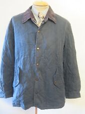 """Genuine Burberry Blue Cotton Quilted Jacket / Coat Size 44"""" Euro 54"""