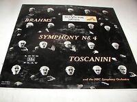 BRAHMS SYMPHONY NO 4 E MINOR OP 98 ARTURO TOSCANINI LP EX RCA Victor LM1713 1955