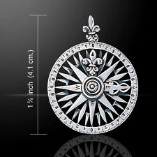 Compass Rose .925 Sterling Silver Pendant by Peter Stone