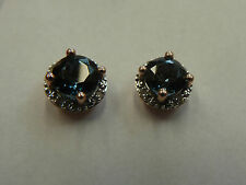 9 Carat Rose Gold Round Fine Earrings