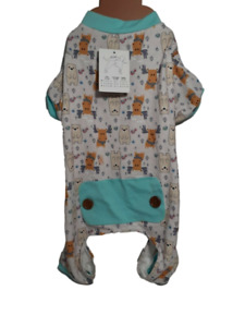 Pet Central Dog Pajamas, Pjs, Winter / Christmas, Bear & Moose, Medium
