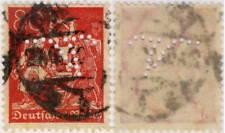 """ALLEMAGNE / DEUTSCHLAND - """" V """" Firmenlochung (Vogel ?) auf Mi.186  (Dec10$01ca)"""