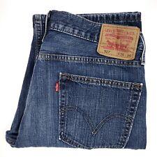 Levis 527 Bootcut Jeans 35x37 Blue Boot Cut Denim Jean Mens Size Distressed Wash