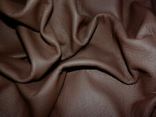 """Soft Medium Brown Cowhide Leather Scraps 14.5""""x16"""" avg 1mm thick #8956"""