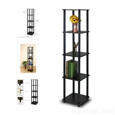 New Shelves Corner Display Rack 5 Tier Shelf Stand Furniture Storage Home Office