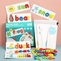 English Spelling Toy Wooden Cardboard Alphabet Game Educational Education