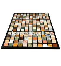 3'x2' Marble Dining Table Top Multi Stone Mosaic Cubes Inlay Living Decors B065