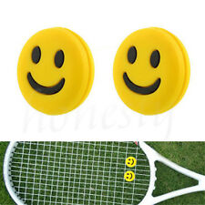 4pcs Silicone Rubber Smile Face Tennis Racquet Vibration Dampener Shock Absorber