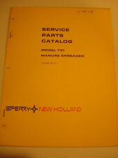 1977 New Holland Model 791 Manure Spreader SERVICE PARTS CATALOG 34 pages