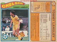 326 tommy langley # england chelsea. fc card premier league topps 1978